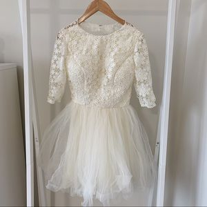 Mini lace wedding dress bridal dress